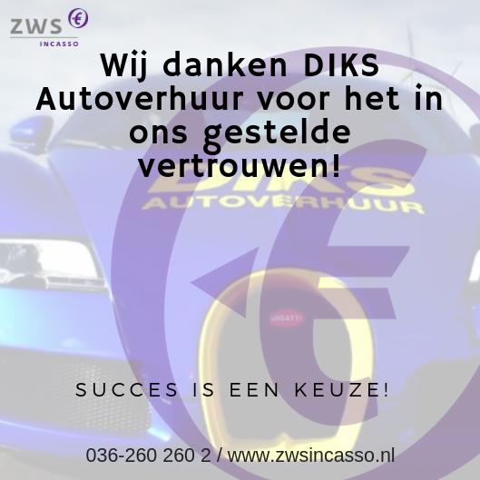 ZWS Incasso samenwerking Diks Autoverhuur