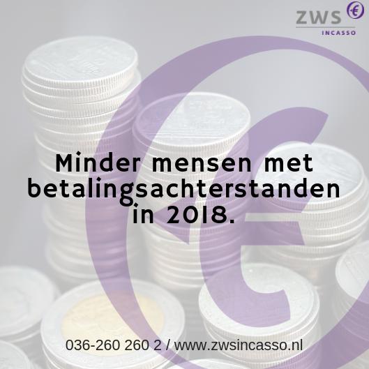 ZWS Incasso_Minder mensen met betalingsachterstanden in 2018
