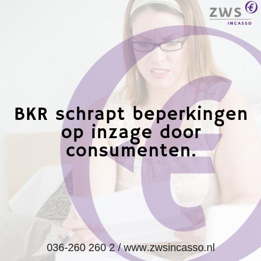 ZWS Incasso_BKR schrapt beperkingen op inzage door consumenten