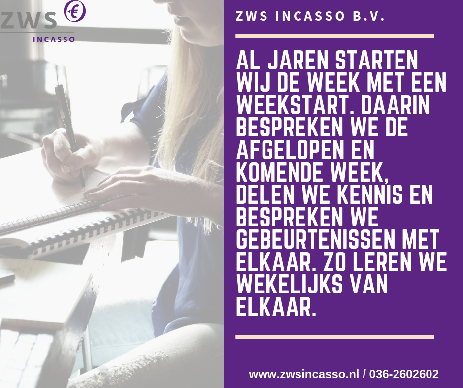 ZWS Incasso_Weekstart